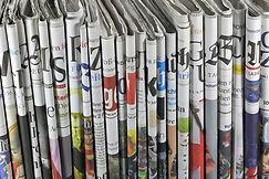 Gefaltete Zeitungen
