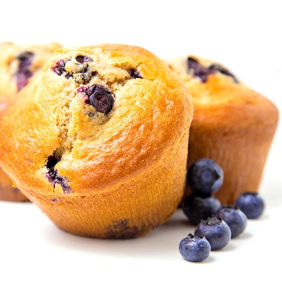 Lemon Cauliflower Muffins! (with Blueberries)