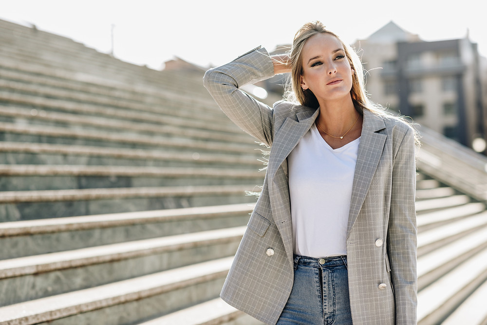 Woman in blazer and jeans, The Image Tree Blog Post, What's Your Style Personality?