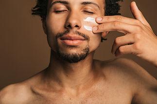 Applying Face Cream