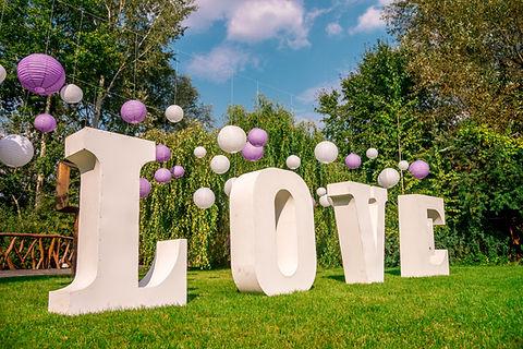 Liebe Hochzeitsdekoration