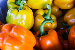 Red bell peppers are a rich source of beta carotene which keeps your eyes and skin healthy.
