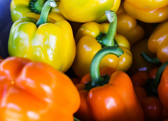 Peppers Red, Green, Yellow, Orange (per kg)