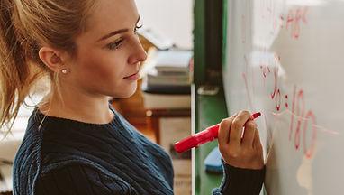 Etudiants écrivant à bord