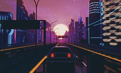 Retro Futuristic City