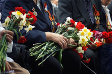 Veterans with Flowers