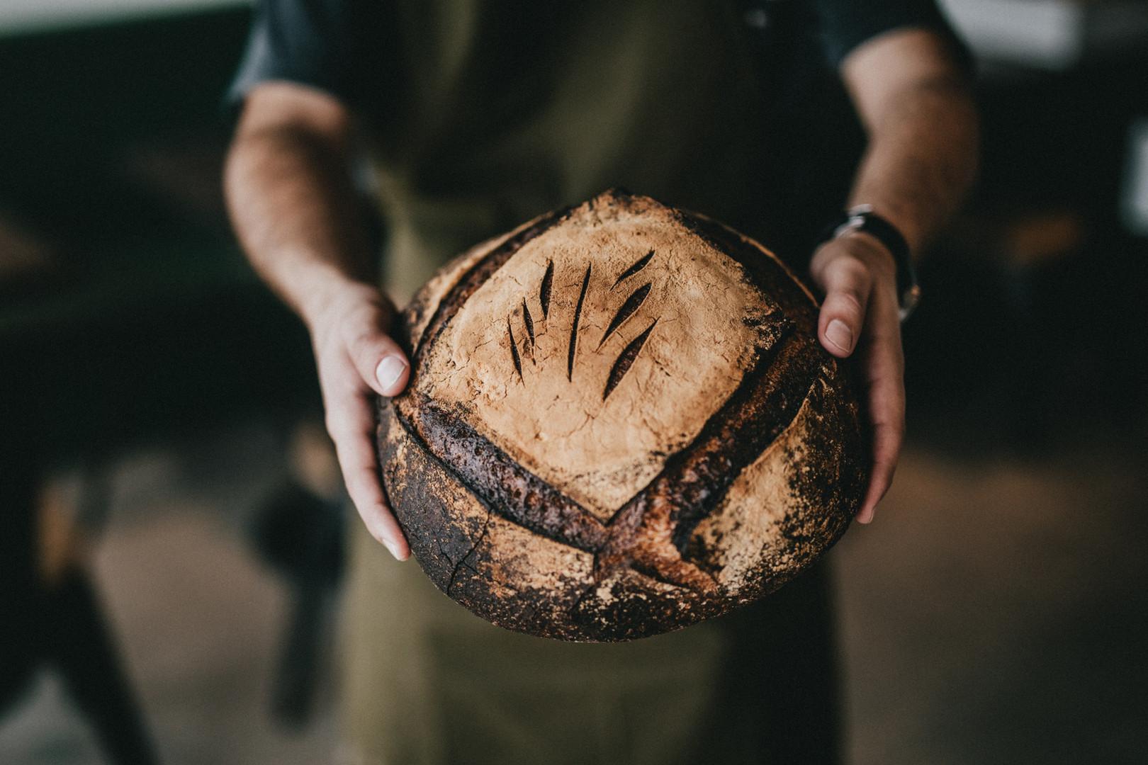 Miche de pain frais