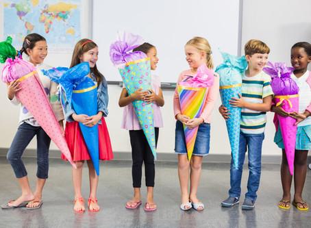 Schulanfang, Zuckertüten, ein neuer Schritt für die Kinder und Eltern