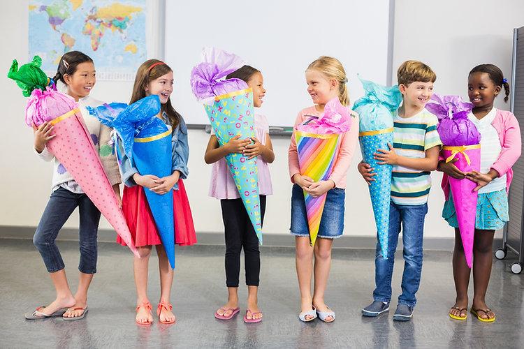 Cones da escola em sala de aula