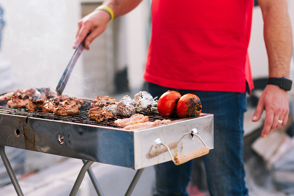 guy barbecuing in miami