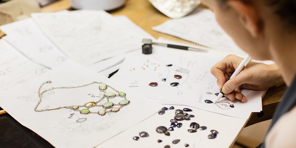Atelier Création de Bijoux • Collier en laiton doré