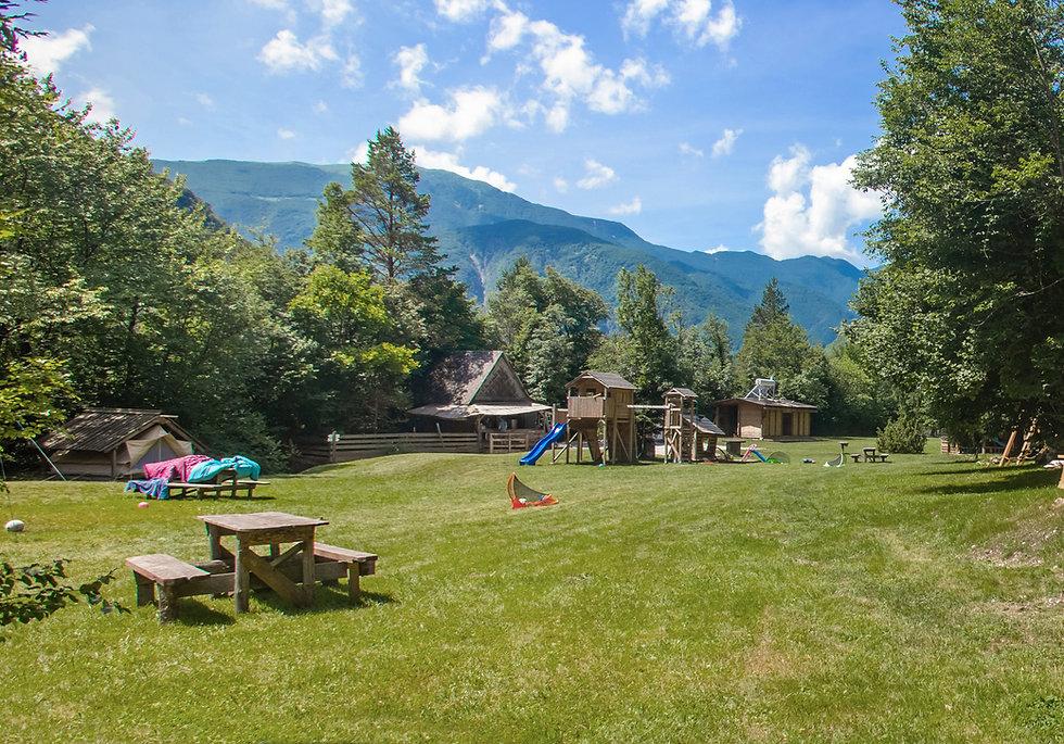田舎のキャンプ