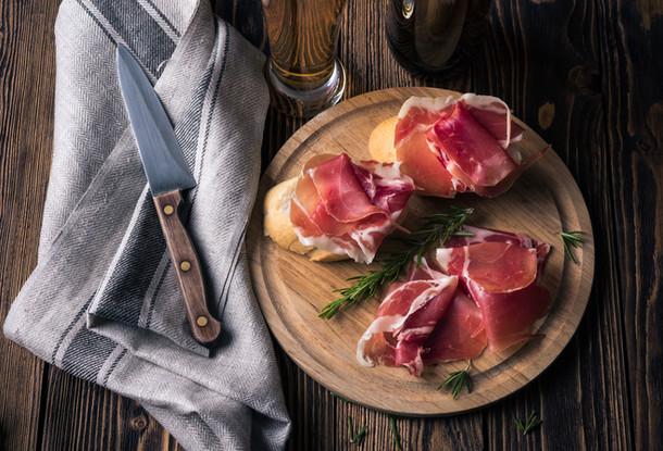 Tapas met ham