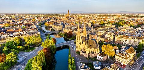 Ville française vue du ciel