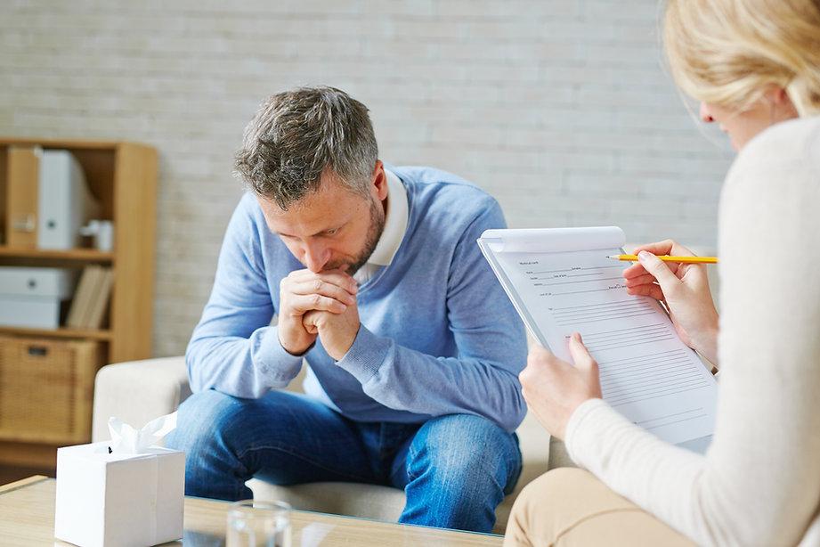Sitzung beim Psychologen