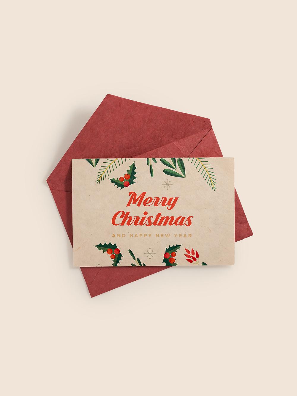 Printed Christmas postcard