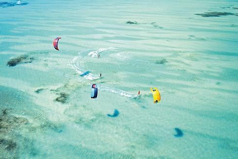 Kitesurf à vol d'oiseau