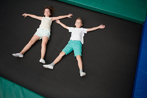 Laying Down Trampoline
