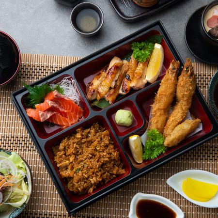 Sashimi Don . Bento . Ramen . Udon . Donburi . A La Carte . Salad .