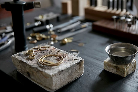 Gold Jewellery being repaired