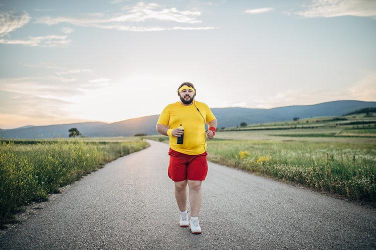 日没でジョギング