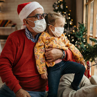 Grandpa George as Santa 2020