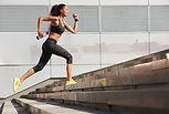 Kvinna Sprinting