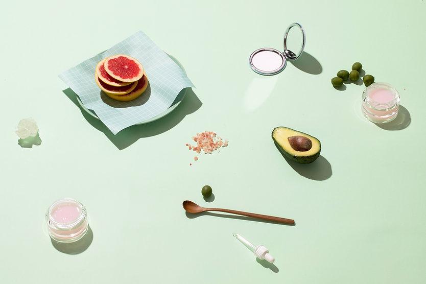 果物と化粧品