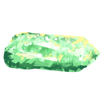 Green Crystal Rock