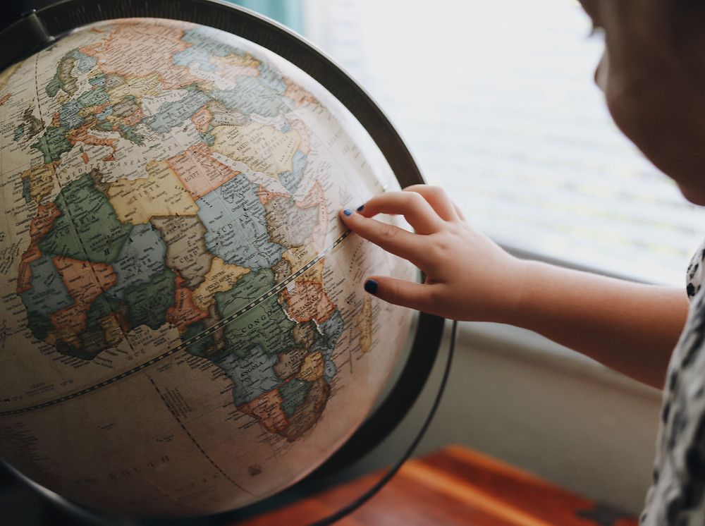 organize a trip around the world at home