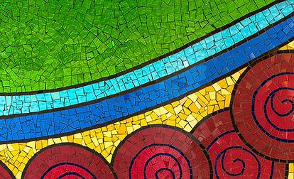 Tessere di mosaico colorate