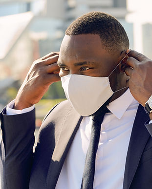 Businessman with Mask