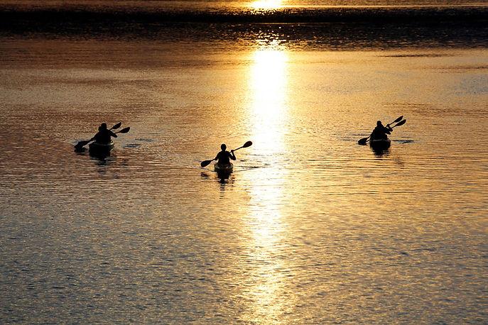 Sonnenuntergang Kajak
