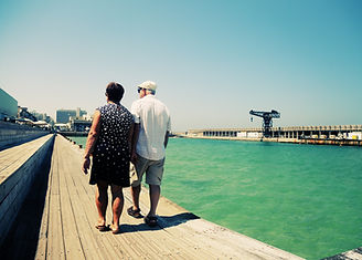 Senior Couple in Port
