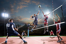 Jogo profissional de voleibol