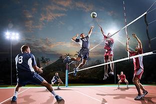Jeu de volleyball professionnel