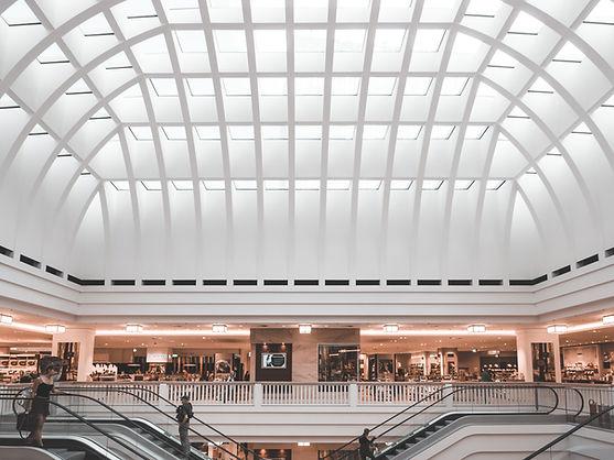 Escalators in a Shopping Mall