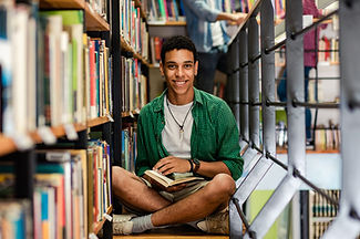 A Yound Man in the Library