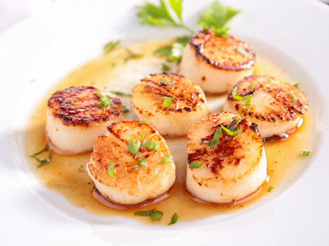 Scottish hand-dived scallops