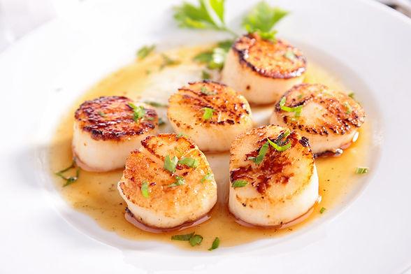 seared scallops bespoke menu chef at home