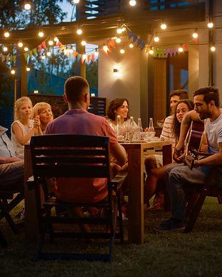 夏の家族の夕食