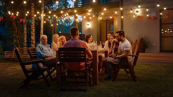 Jantar de verão em família