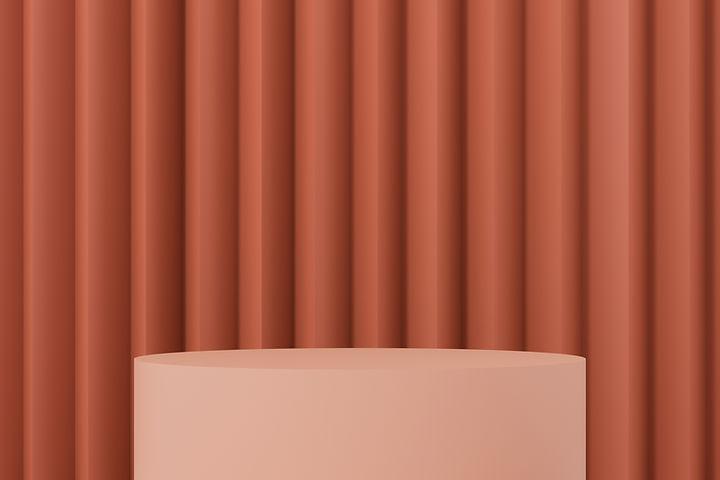 Podium and Curtain