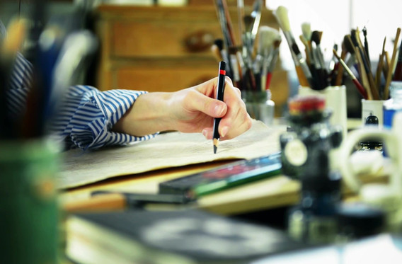 artista que bosqueja