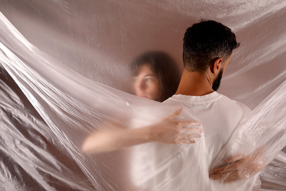 couple struggling to connect after an affair