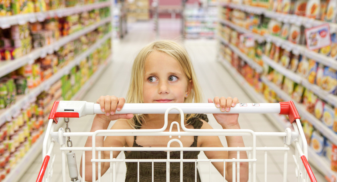 Little Girl at the Grocery Shop