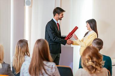 Presenting an Award