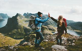 Счастливые туристы