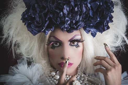 Lady in Costume with makeup on