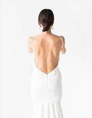 花嫁の背面図